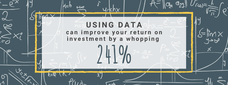 Using data can improve your return on investment by a whopping 241%.